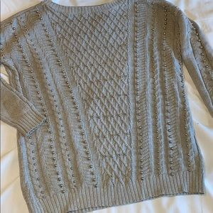 S GUESS STUDDED SWEATER